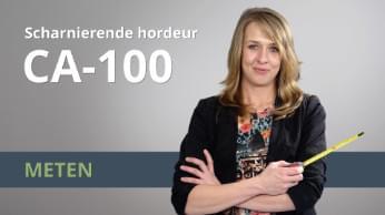Meetinstructies Scharnierende hordeur CA-100