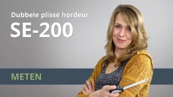 Meetinstructies Dubbele plissé hordeur SE-200